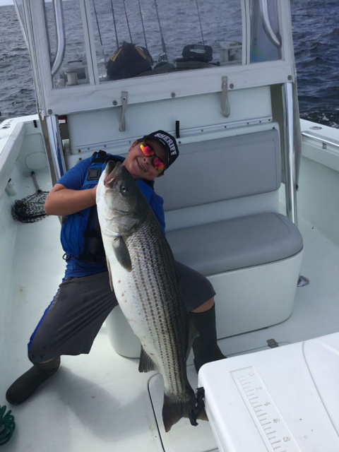 Galilee Striped Bass - Caught Fishing Charters RI